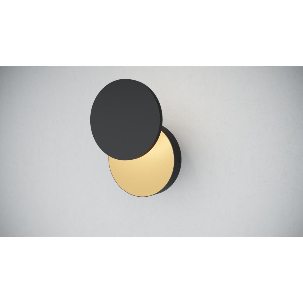 Светильник настенный MOON BLACK/GOLD